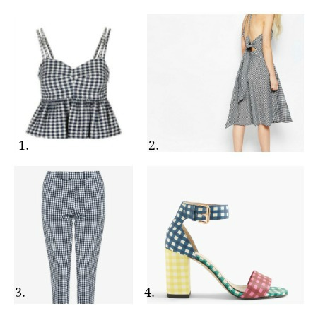 Gingham collage